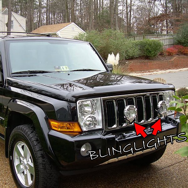 jeep commander off road bumper auxilliary lamps driving lights. Black Bedroom Furniture Sets. Home Design Ideas