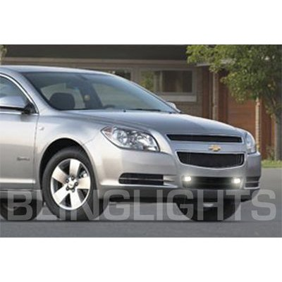 2008 2009 2010 2011 2012 Chevrolet Chevy Malibu Grille Xenon Fog Lamps Driving Grill Lights Kit