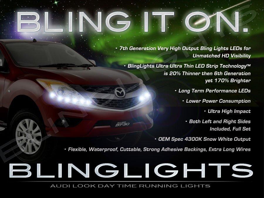 Mazda BT-50 BT50 LED Strip Lights DRL Head Lamp Kit Set Day Time Running Lighting