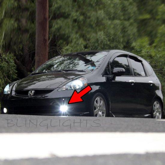 2007 2008 Honda Fit Sport Xenon Fog Lamps Driving Lights Foglamps Foglights Kit