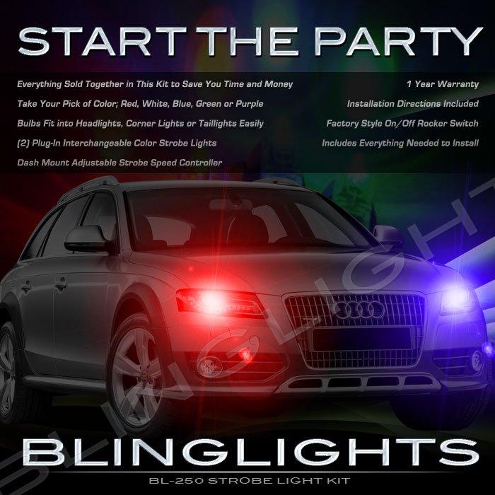 Audi A4 Stobes Police Light Kit for Headlamps Headlights Head Lamps Strobe Lights