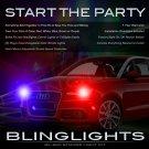 Audi A1 Strobe Police Light Kit for Headlamps Headlights Head Lamps Strobes Lights