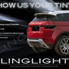 Land Range Rover Evoque Tinted Smoked Protection Overlays for Taillamps Taillights Tail Lamps Lights