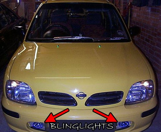 1997 1998 1999 Nissan Micra K11C Xenon Fog Lamps Driving Lights Foglamps Foglights Kit
