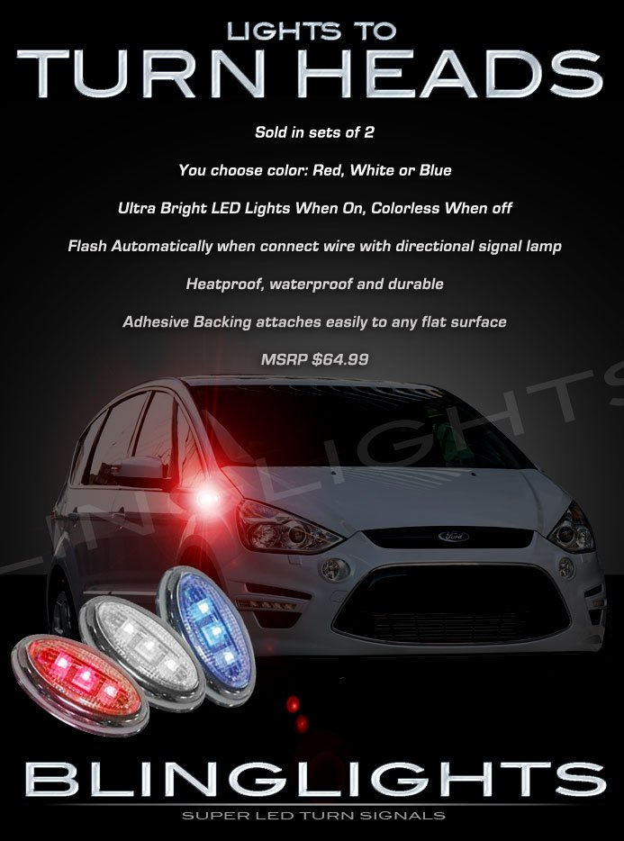 Ford S-Max LED Side Marker Turnsignals Lamps Accent Turn Signals Lights Markers Accents Signalers