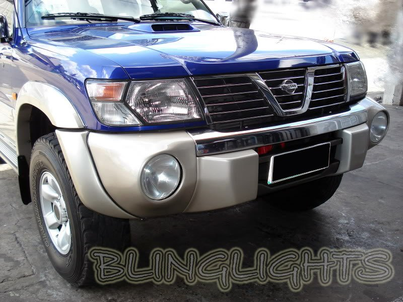 Nissan Patrol Safari SNY Euro Bumper Body Foglamps Foglights Fog Lamps Driving Lights Kit