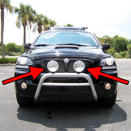 KIA Sorento Off Road Driving Lights Auxilliary Bar Lamps Kit