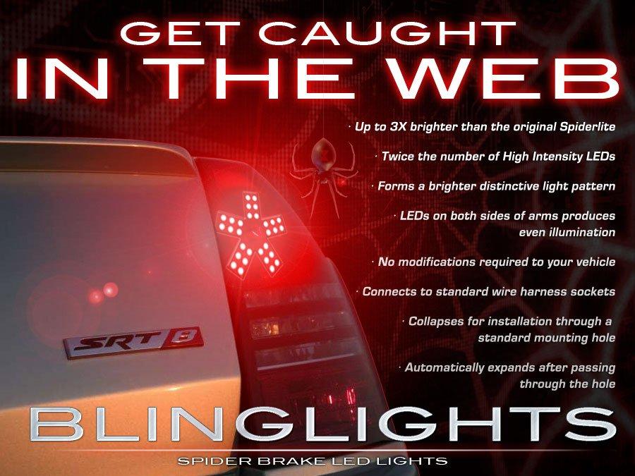 LED Spider Lite Light Bulbs 4157 Size Brake Stop Tail Lamp Lights Lamps Taillamps Taillights