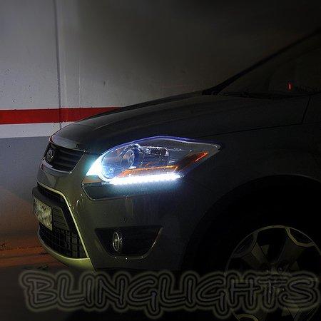 Ford Kuga LED DRL Head Lamp Light Strips Kit Day Time Running