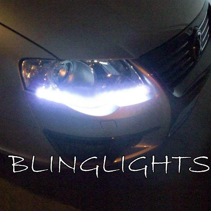 2009 2010 2011 2012 Volkswagen VW Passat CC LED DRL Strip Headlamp Headlight Day Time Running Lights
