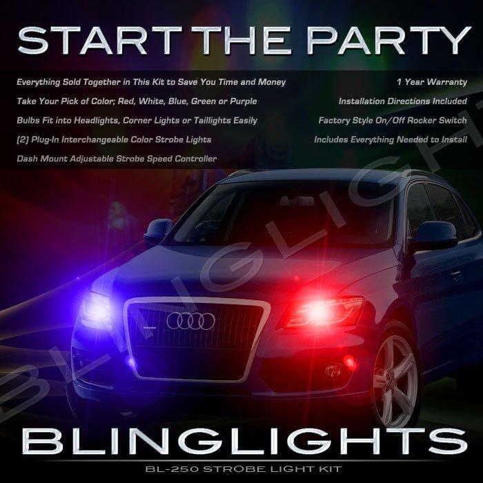 Audi Q5 Strobe Police Light Kit for Headlamps Headlights Head Lamps Lights Strobes
