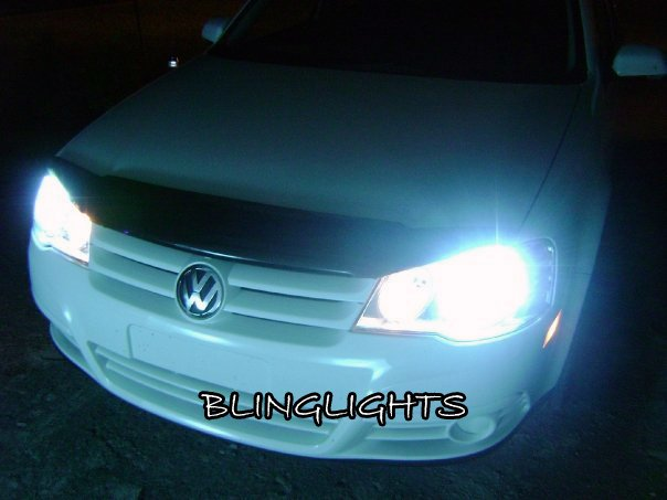 VW CitiGolf HID Simulated Head Lamp Light Bulbs Volkswagen Replacement Upgrade Set