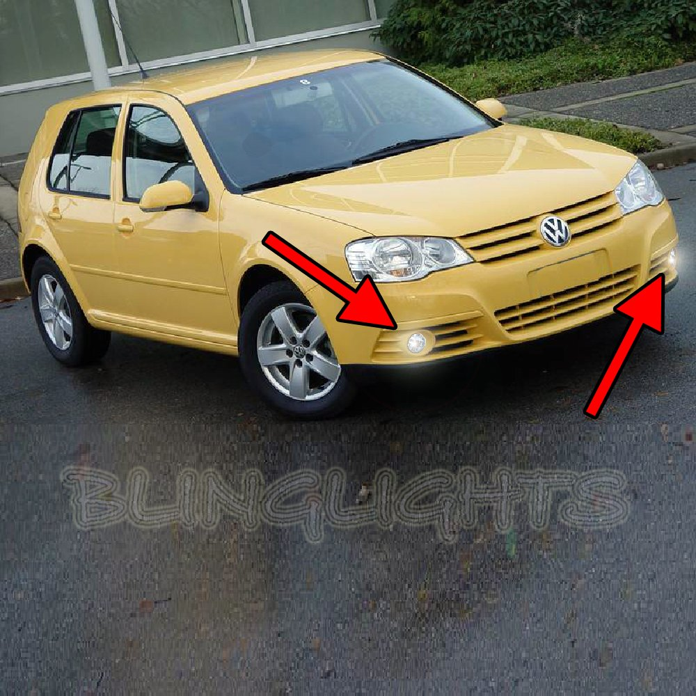 2008 2009 Volkswagen VW CitiGolf Citi Golf Xenon Fog Lamps Driving Lights Foglamps Foglights Kit