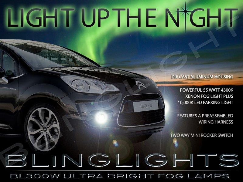 2009 2010 2011 2012 Citroën C3 Xenon Fog Lamp Driving Light Kit