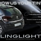 2009 2010 2011 2012 Citroën C3 Tint Smoked Overlays Film for Taillamps Taillights Tail Lamps Lights