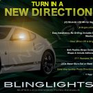 Nissan 370Z LED Side Mirrors Turnsignals Lights Mirror Turn Signals Lamps Signalers Z34 Accents