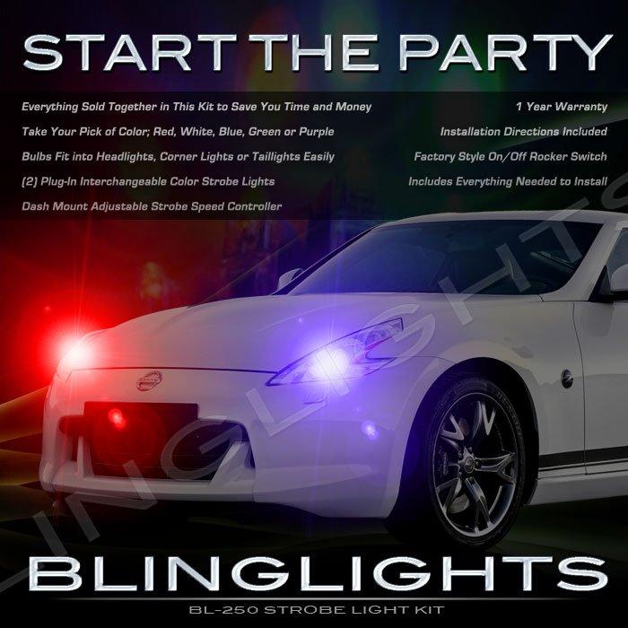 Z34 Nissan 370Z Fairlady Z Police Strobe Light Kit for Headlamps Headlights Head Lamps Lights