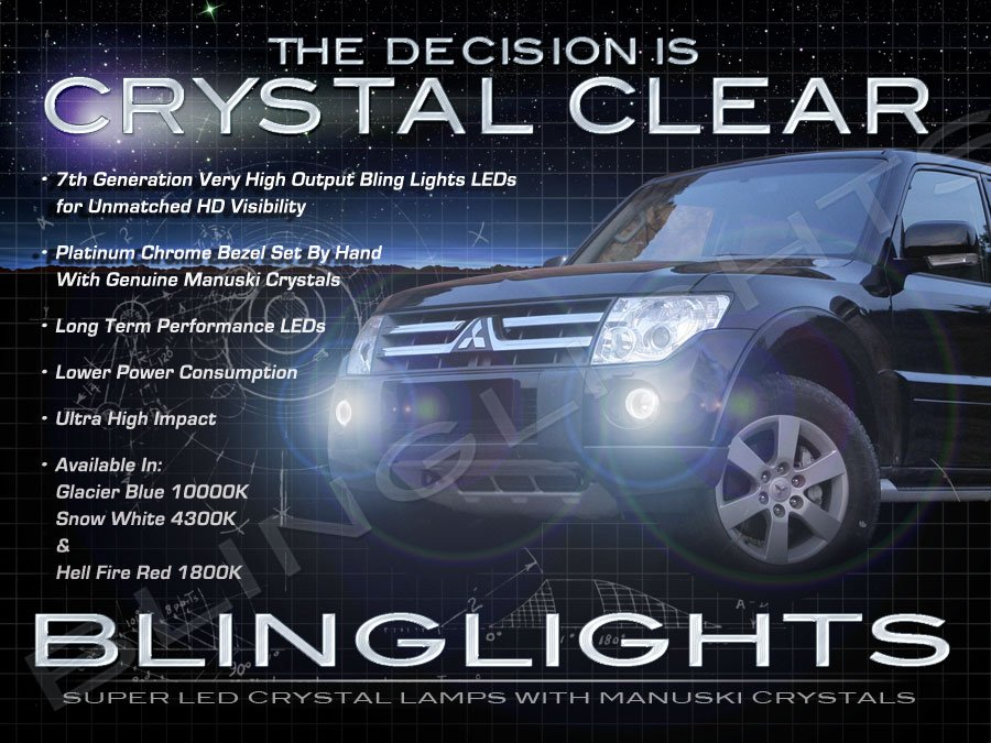 Mitsubishi Pajero LED Fog Lamps Driving Lights Kit 2007 2008 2009 2010 2011 2012 2013 Foglamps