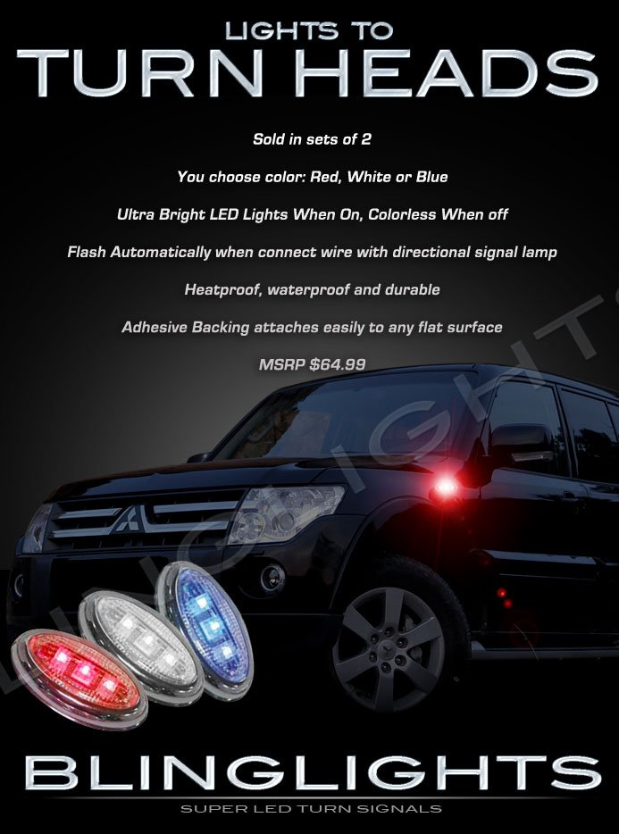 Mitsubishi Nativa LED Side Marker Turnsignals Lights Accents Turn Signals Lamps Signalers Markers