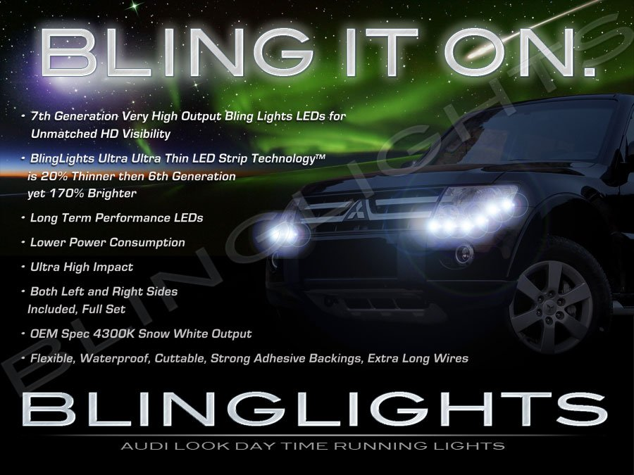 Mitsubishi Pajero Sport LED DRL Strips for Headlamps Headlights Head Lamps Day Time Running Lights