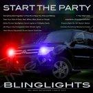 Mitsubishi Montero Sport Strobe Police Light Kit for Headlamps Headlights Head Lamps Lights Strobes