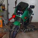 Kawasaki Ninja 600R Tinted Smoked Protection Overlay Film for Headlamp Headlight Head Lamp Light