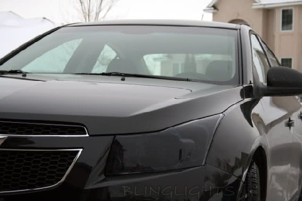 Holden Cruze Tinted Head Lamp Light Overlay Kit Smoked Film Protection
