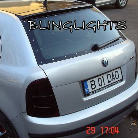 Skoda Fabia Tinted Tail Light Lense Protection Covers Smoked Lamp Overlays Kit Å koda