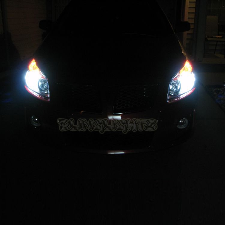 Pontiac Vibe Bright White Replacement Light Bulbs for Headlamps Headlights Head Lamps Lights
