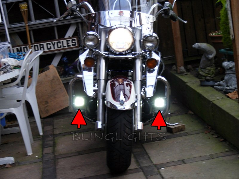 Yamaha DragStar V Star XVS LED Driving Lights Fog Lamps Drivinglights Foglamps Foglights Kit