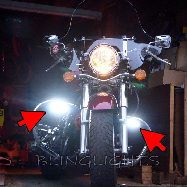 Kawasaki Vulcan 1600 VN1600 Class Nomad Mean Streak Xenon Driving Lights Fog Lamps Foglamps Kit