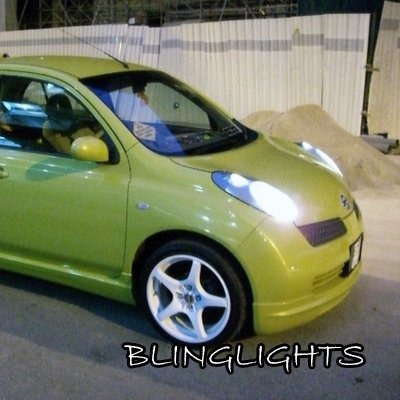 2002-2010 Nissan March Bright White Light Bulbs for Headlamps Headlights Head Lamps Lights