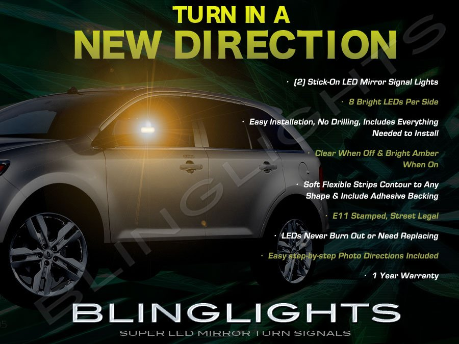 Ford Edge LED Side Mirror Turnsignal Lights Turn Signals Mirrors Accent Lamps Signalers