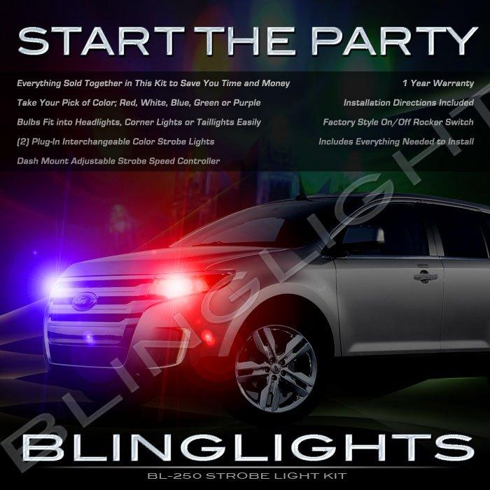 Ford Edge Strobe Police Show Light Kit for Headlamps Headlights Head Lamps Lights Strobes