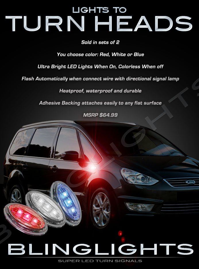 Ford Galaxy LED Side Marker Turnsignals Lamps Accent Turn Signals Lights Signalers Markers Accents
