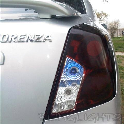 Suzuki Forenza Tinted Smoked Taillamps Taillights Tail Lamps Lights Protection Overlays Film