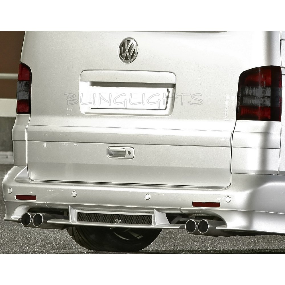 Volkswagen VW T5 Transporter Shuttle Tinted Smoked Overlays Taillamps Taillights Tail Lamps Lights