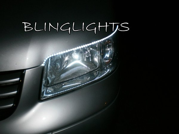 Volkswagen VW T5 California LED DRL Strips for Headlamps Headlights Head Lamps Strip Lights