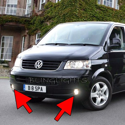 2002-2010 Volkswagen VW T5 Kombi Xenon Fog Lamps Driving Lights Foglamps Foglights Kit