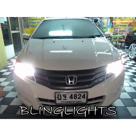 2009 2010 2011 2012 Honda City Bright White Light Bulbs for Headlamps Headlights Head Lamps Lights