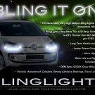 SEAT Mii LED DRL Head Light Strips Day Time Running Lamps Kit Pair Set