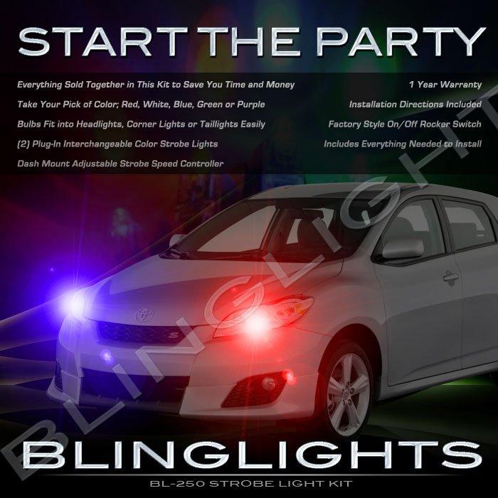 Toyota Matrix Police Strobe Light Kit for Headlamps Headlights Head Lamps Lights Strobes