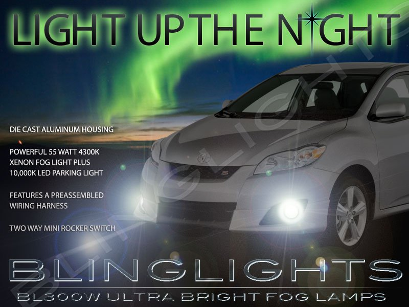 2011 2012 2013 Toyota Matrix Xenon Fog Lamps Driving Lights Foglamps Foglights Kit