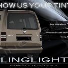 Volkswagen VW Caddy Tinted Smoked Protection Overlays for Taillamps Taillights Tail Lamps Lights