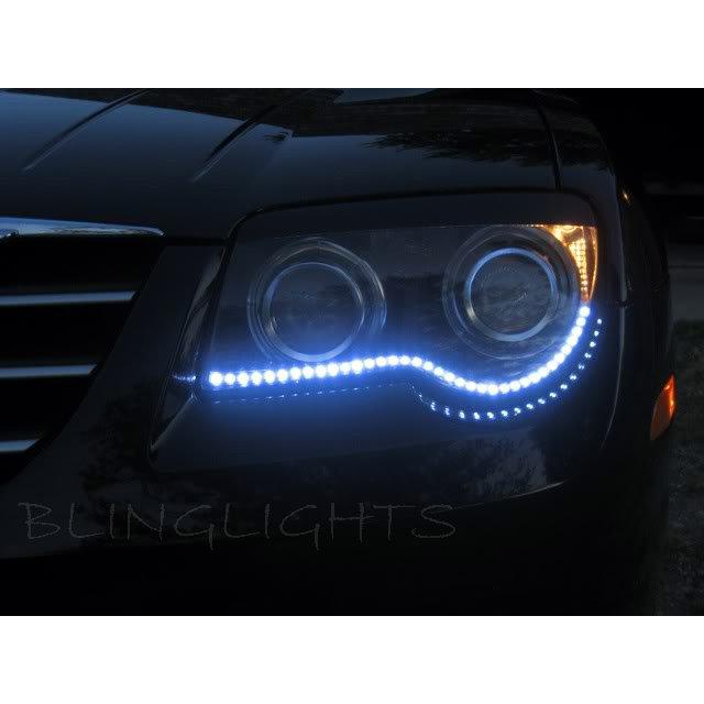 Chrysler Crossfire LED DRL Head Light Strips Day Time Running Lamps