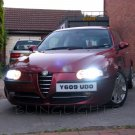 2000-2010 Alfa Romeo 147 Bright White Replacement Light Bulbs for Headlamps Headlights