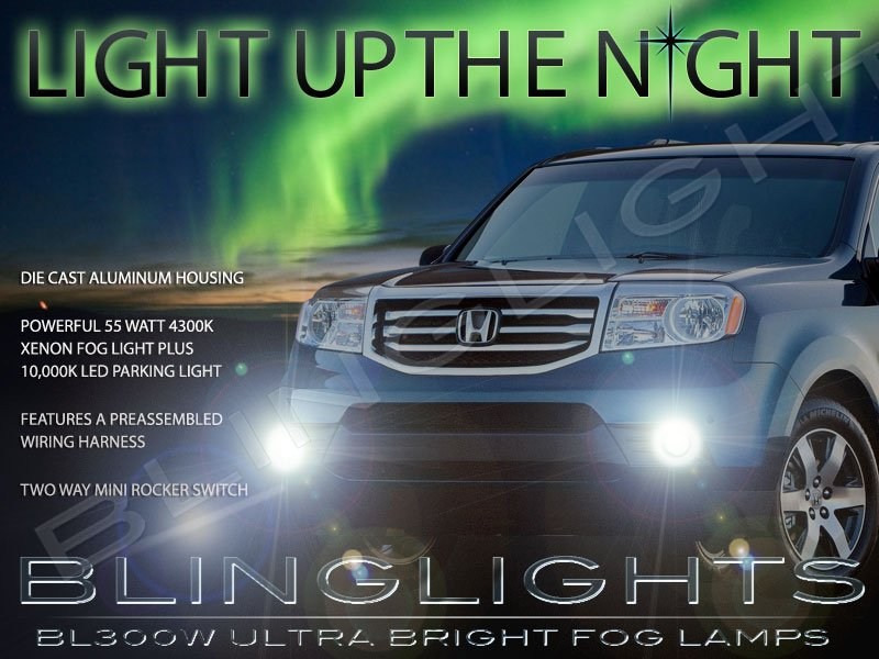 2012 2013 2014 2015 Honda Pilot Fog Lamps Driving Lights Kit
