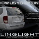 Kia Sedona Tinted Smoked Tail Lamp Light Overlays Film Protection
