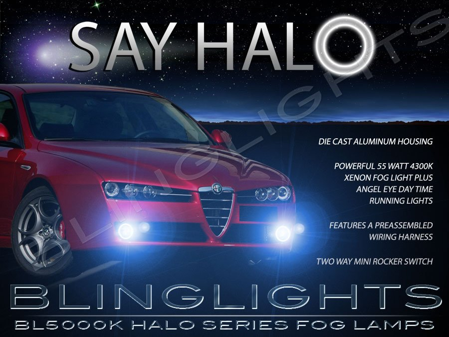2005 2006 2007 2008 2009 2010 2011 Alfa Romeo 159 Angel Eye Fog Lamps Halo Driving Lights Foglamps