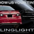 Toyota Corolla Tinted Smoked Taillamps Taillights Overlays Film Protection
